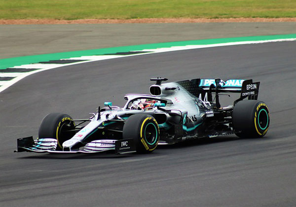 Lewis Hamilton in pole position