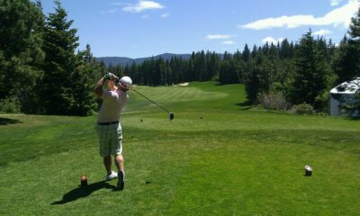 Golf course and golfer