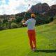 classic golf shot