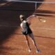 """Petra Martic serves in Palermo Open, in Sicily Italy."" Photo: Eva-Kristin Urestad Pederson"