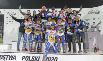The victorious Unia Leszno team - Photo: Marcin Kubiak, PGE Ekstraliga