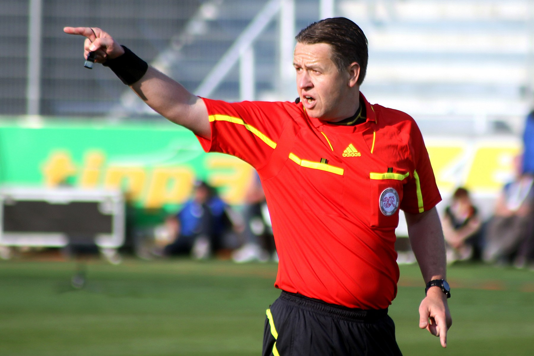 refereeing in action