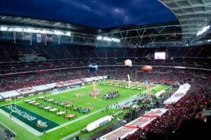 NFL International Series hosted at Wembley Stadium, London, UK.
