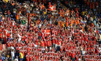 Denmark supporters