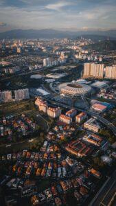 Aerial view of Bukit Jalil Stadium